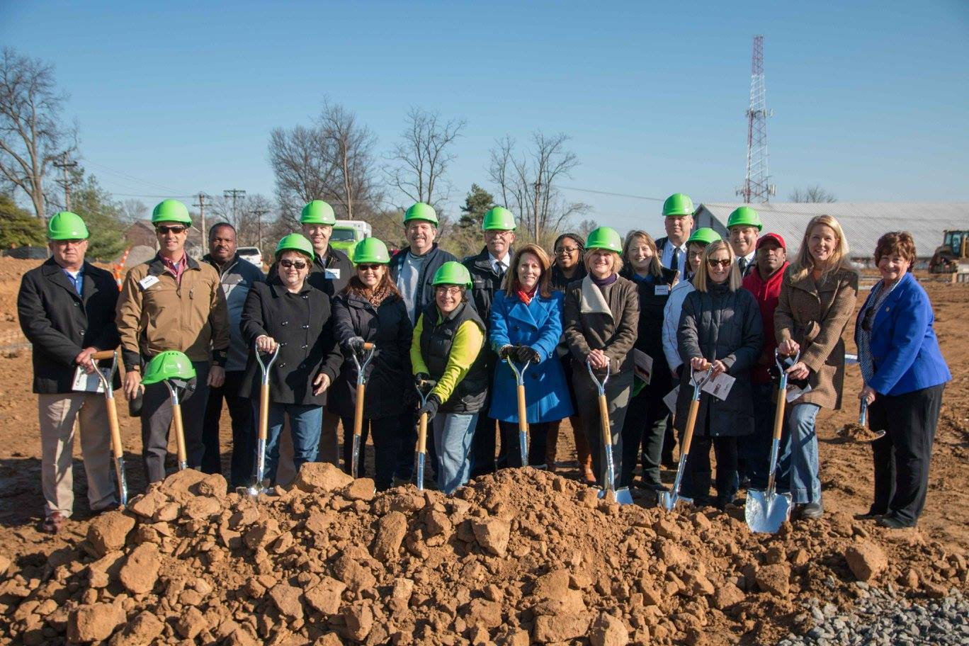 Groundbreaking Group Photo with City Workers