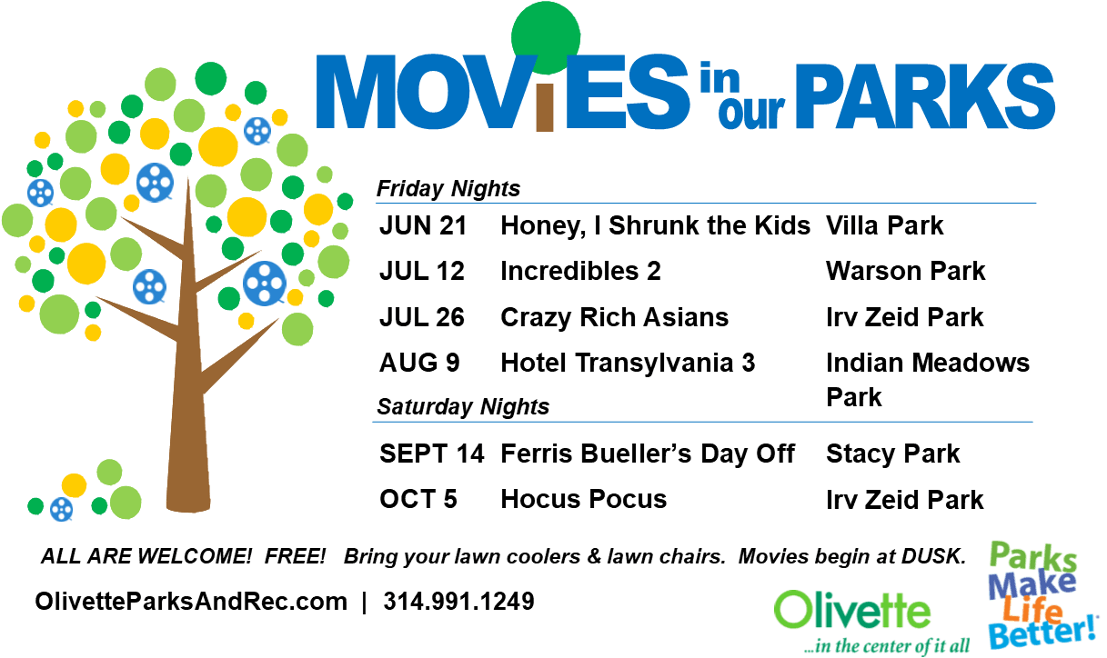 Movies in Our Parks 2019