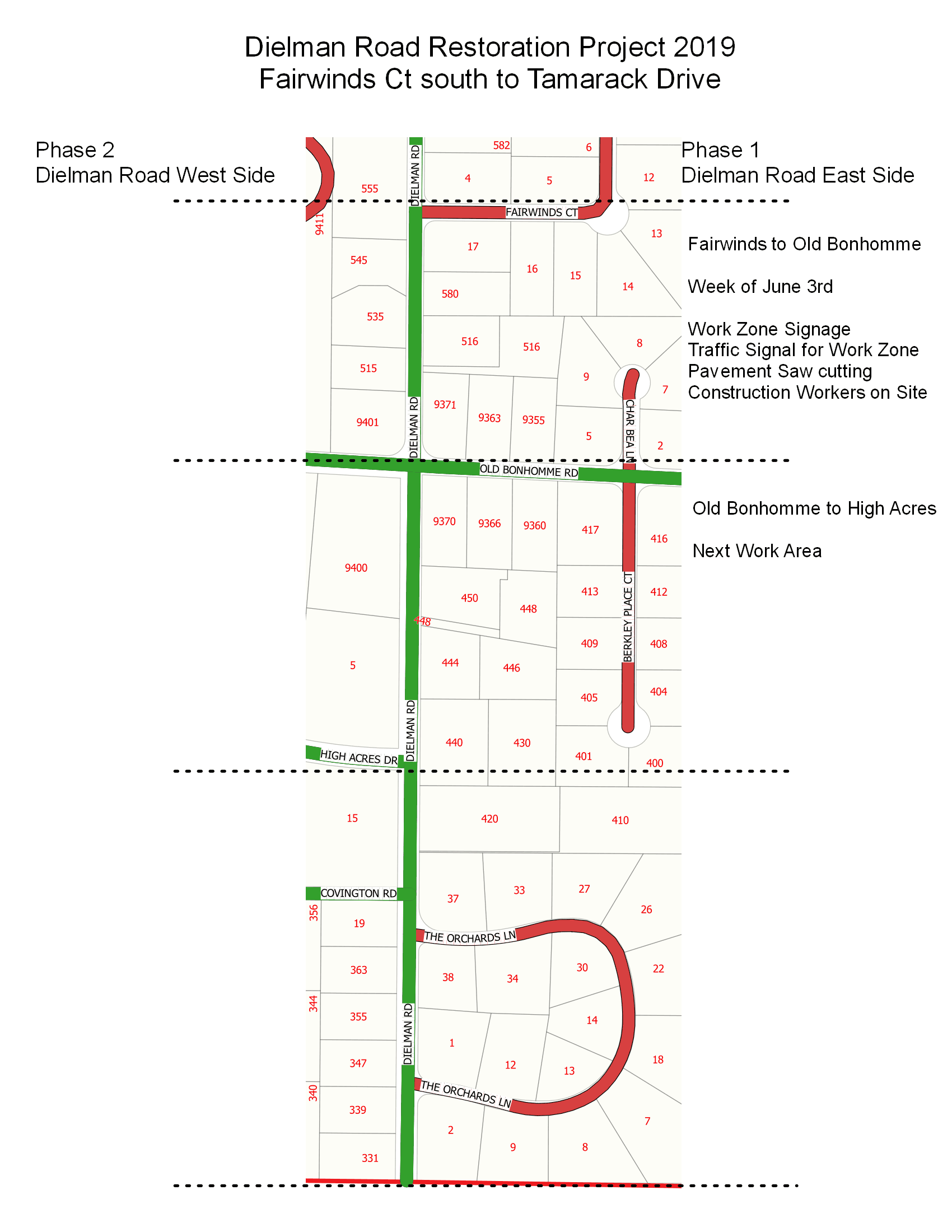 Dielman Road South STP Schedule Phase 1